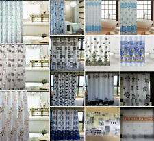 Various Prints Bathroom Shower Curtain/Curtains 100% Polyester 12 Hooks