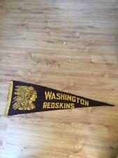 "1940's Vintage Washington Redskins Football Pennant 28"" Very Rare"