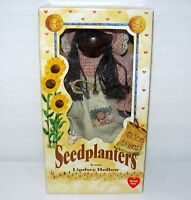 """SEED PLANTERS WOOD 11"""" DOLL LINDSEY HOLLOW MIRIAH ROSE WOODEN GARDEN DECORATION"""