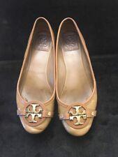 Tory Burch Ballet Flat Tan Patent Leather Sz 8