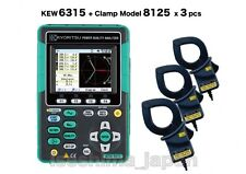 KYORITSU [KEW6315-01 /Clamp Sensor 8125 x3 Set Model] Power Quality Analyzer