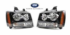 07-14 Tahoe Avalanche Suburban Factory Left & Right Headlights Genuine OEM GM
