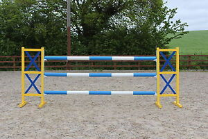 Pair of criss cross Show jumping Alu Wings - With Key hole tracks, high quality.