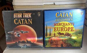 Star Trek Catan Board Game SEALED and Catan Histories Merchants of Europe