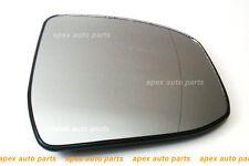 Ford Galaxy 2007 /> 2015 Puerta Vidrio Espejo Convexo Calentado /& Base De Plata lado izquierdo