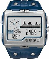 New Timex Expedition WS4 Watch T49760 Blue/Silver Altimeter Compass Barometer