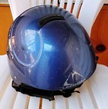 Ski/Snowboard MetallicBlue Leedom Helmet Used Adult Size Sm/Med