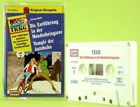 TKKG Doppelfolge Mondscheingasse / Vampir Hörspiel alte Musik hellblau Europa MC