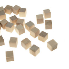 Natural Wooden Cube Blocks, 1/2-Inch, 36-Piece
