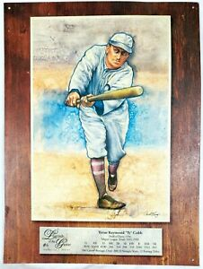 """""""Ty"""" Cobb Legends of the Game Collector's Series #6 Metal Tin 16"""" H x 12"""" W Sign"""