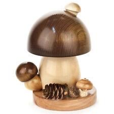 Mini Wooden Mushroom Incense Burner Smoker Made In Germany