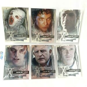2005 INKWORKS The X-Files Haunting Cases HC-1 to HC-6 Foil Chase Base Card Set