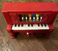 ☆ 1963 Hubley Toy Razz Ma Tazz Player Piano VINTAGE Box Instructions 2 Rolls
