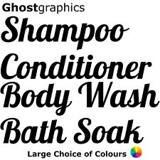 Shampoo Conditioner Body Wash Bath Soak Personalised Spray Bottle Stickers Set