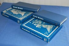 Great Britian COLLECTA stamp albums to 1971 with dustcovers  BlueLakeStamps Nice
