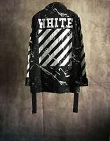 NWT Off White C/O Virgil Abloh Coat Camouflage Plaid Long Sleeve Jacket SizeS-XL