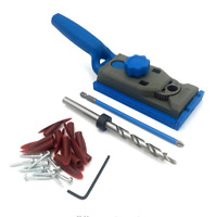 NEW 2 in 1 Genius Woodworking Pocket Hole Jig Kit Set 9.5mm Drill For Kreg Pilot
