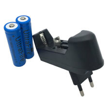 2x 18650 Li-ion Battery 5000mAh 3.7V Rechargeable+Charger EU Plug For Flashlight