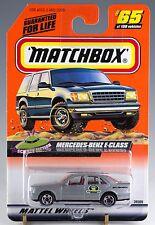 Matchbox MB 65 Mercedes-Benz E-Class Silver Gray Mint On Card 1999