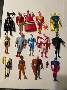 """15 Rare JLU Loose 4.5"""" Figures Justice League Unlimited DC Lot"""