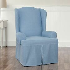 Sure Fit Authentic  lite  Denim Wing Chair Slipcover