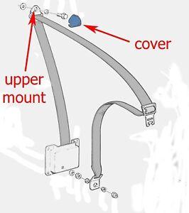 VOLVO 240 front seat belt upper pillar mount cover cap BEIGE TAN