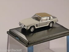 JENSEN INTERCEPTOR in Old English White / Tan 1/76 scale model OXFORD DIECAST