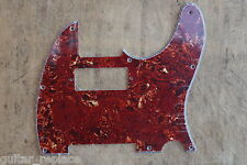 Golpeador Pickguard Telecaster Hot Rod Brown Tortoise Mini Humbucker 3 Plies