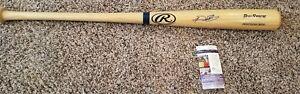 Tigers & Rangers Slugger Prince Fielder Autographed Rawlings Pro bat - JSA COA