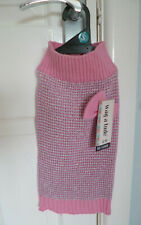 BNWT, WARM, PINK JUMPER FOR BICHON FRISE, SHIH TZU etc FROM WAG-A-TUDE - SMALL