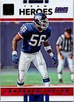 2017 Donruss Team Heroes Football Card #3 Lawrence Taylor Giants