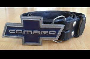 Buckaroo Genuine Leather w plait detail+Buckles of America Camaro buckle VINTAGE