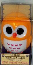 Brillant à Lèvres à en Animal Orange Hibou Récipient Pêche Parfumé