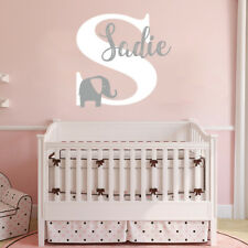 Custom Name Elephant Wall Art Decal Children Decor Stickers Vinyl Nursery