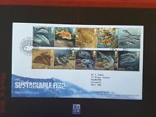 GB 2014 Stamps SUSTAINABLE FISH First Day Cover Fishguard Pmk