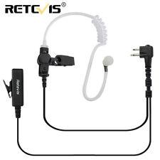 Retevis 2 Pin PTT Earpiece Headset Mic For Kenwood Baofeng Walkie Talkie HYT TYT
