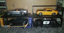 LOT (4) 2010 Chevrolet Camaro SS & 2006 Concept POLICE CAR Jada Big Time 1/18