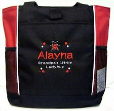 PERSONALIZED Grandpa's Little Ladybug Diaper Bag baby Tote book monogrammed New