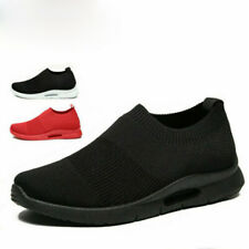 Breathable Lightweight Men's Slip on Shoes Gym Athletic Fitness Running Sneakers