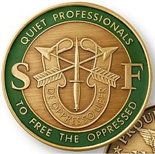 U.S. ARMY SPECIAL FORCES GREEN BERET THE QUIET PROFESSIONALS CHALLENGE COIN -01