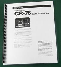 Roland CR-78 Instruction Manual / Service Notes: With Protective Covers!