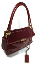 Zac Posen Cherry Red Patent Leather Bag Made In Italy