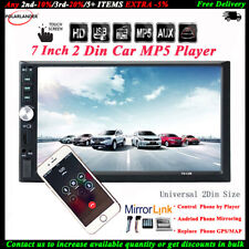 7'' Touch Screen Car Radio Bluetooth Audio Stereo USB/TF/AUX/FM/Remote MP5 2 DIN
