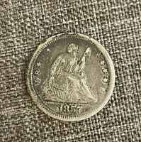 1857 Seated Liberty Silver Quarter - Free Shipping 90% Silver