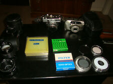 Large Lot of Vintage Cameras, lenses, flashes, filters