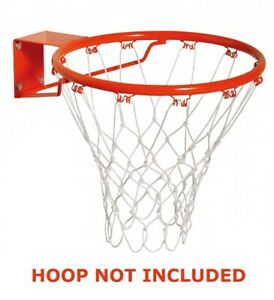 Replacement Basketball Netball Net All Weather Durable Nylon Fits Standard Hoop