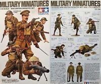 Tamiya 1/35 Military Figures New Plastic Model Kit 1 35