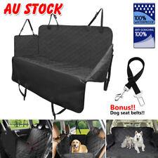 Black Nonslip Pet Car Back Seat Cover Cat Dog Waterproof Protector Hammock Mat