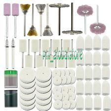 73pcs Abrasive/ Felt Polishing Burr Wheel Brush Kit for Rotary tools 1/8