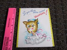Vintage Birthday Card Funny Getting Younger Unused